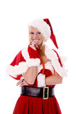 Santas helper happy Royalty Free Stock Photos