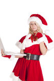 Santas helper laptop think Stock Image