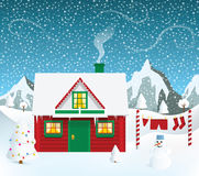Santas house Royalty Free Stock Photos