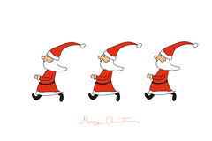 The Santas hurry Stock Photo