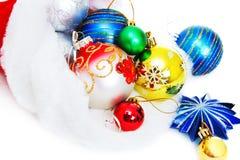 Santas jullock med mång--färgade toys Royaltyfri Fotografi
