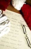 Santas list Stock Photo