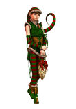 Santas Little Helper Amy CA, 3d CG Royalty Free Stock Photo