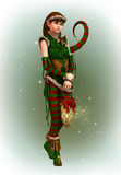 Santas Little Helper Amy, 3d CG Stock Photography
