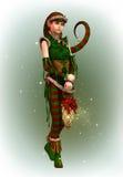 Santas Little Helper Amy, 3d CG Stock Photography