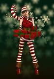 Santas Little Helper Sophie, 3d CG Stock Photo