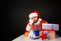 Santas loneliness Stock Photos