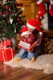 Santas Mały pomagier Obraz Stock