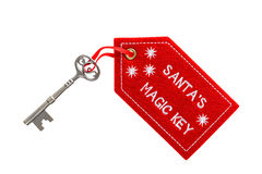 Santas Magic Key isolated clipping path Royalty Free Stock Images
