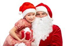 Santas mayores y pequeños Fotos de archivo libres de regalías