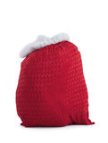 Santas red bag standing alone Stock Photos