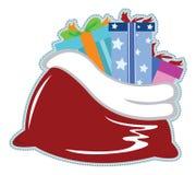 Santas säck royaltyfri illustrationer