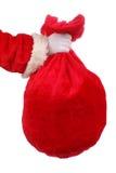 Santas säck Arkivfoto