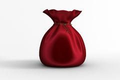 Santas sack full of gifts. On white background Royalty Free Stock Photography