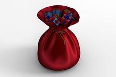 Santas sack full of gifts Stock Photos