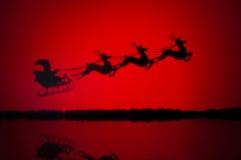 Santas saneczki Zdjęcie Royalty Free