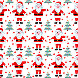 Santas seamless pattern. Royalty Free Stock Photos