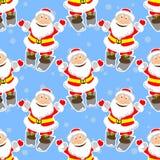 Santas seamless pattern Stock Photo