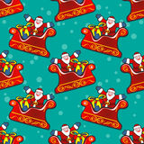 Santas seamless pattern Stock Photo