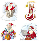 Santas set Royalty Free Stock Images