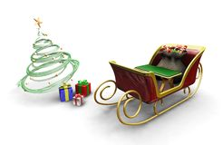 Santas sleigh Stock Photography