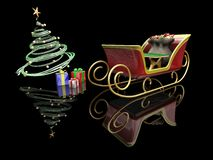 Santas sleigh Stock Images