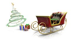 santas sleigh Fotografering för Bildbyråer