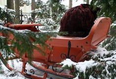 Santas sleigh 4 Arkivbild