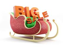 Santas Sleigh big sale Royalty Free Stock Photography