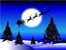 Santas sleigh Stock Photo