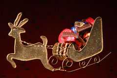 Santas sleigh med presents Royaltyfria Bilder