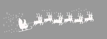 Santas sleigh with reindeer Stock Photography