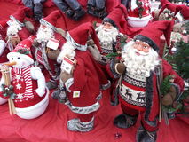 Santas and snowmen Stock Images