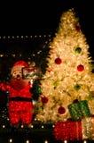 Santas som är kommande till townen Royaltyfria Foton