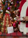 Santas som har hans fester Arkivfoto