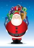 Santas stora överrrakning. Royaltyfria Foton