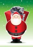 Santas stora överrrakning. Royaltyfri Foto