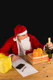 Santas temptation Stock Photos