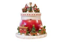 Santas Train. A Christmas time display of a pot with santa and train Royalty Free Stock Image