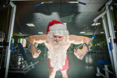 Santas training Royalty Free Stock Images