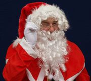Santas warning Royalty Free Stock Photos