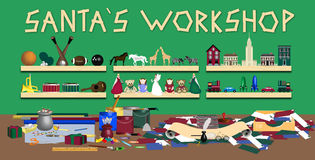 Santas Workshop royalty free illustration