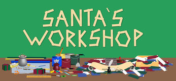 Santas Workshop vector illustration