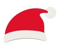 Santashoed van Vrolijk Kerstmisontwerp stock illustratie