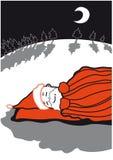 SantaSleeping Photo stock