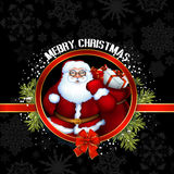 Sante Christmas design Royalty Free Stock Photography