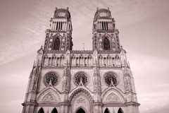 Sante Croix Cathedral, Orleans Stock Photography