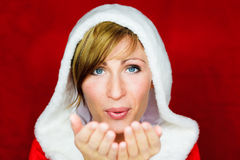 Sante Klausel-Weihnachtswunsch stockfotos