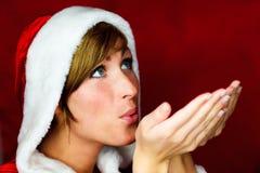 Sante Klausel-Weihnachtswunsch Lizenzfreies Stockfoto