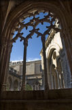 Santes Creus monastery. And cloister in Spain Royalty Free Stock Photography